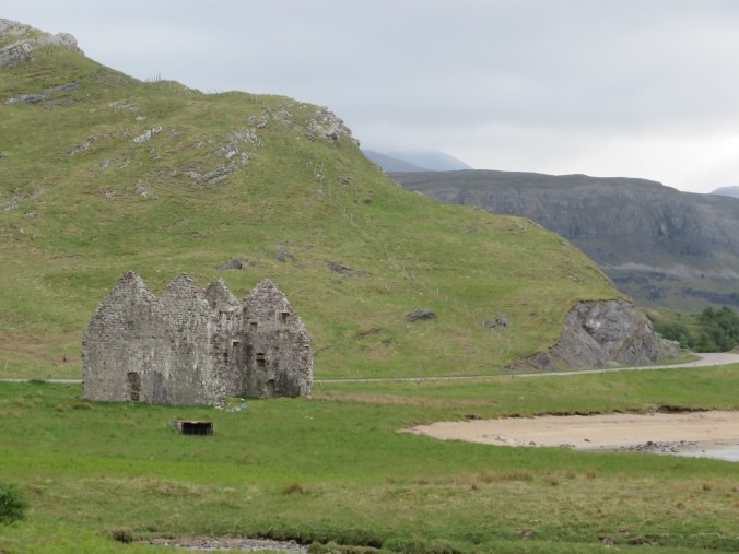 The ruins of Calda House, only a stone's throw from Castle Ardvreck.