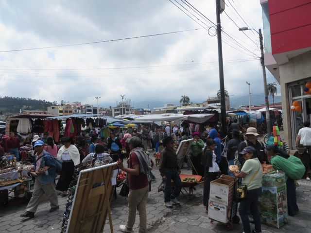 This photo gives you a glimpse of the size of the crowd at this market. Imagine every street corner in the center of this city looking like this.